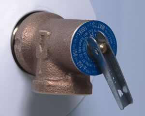water heater relief valve