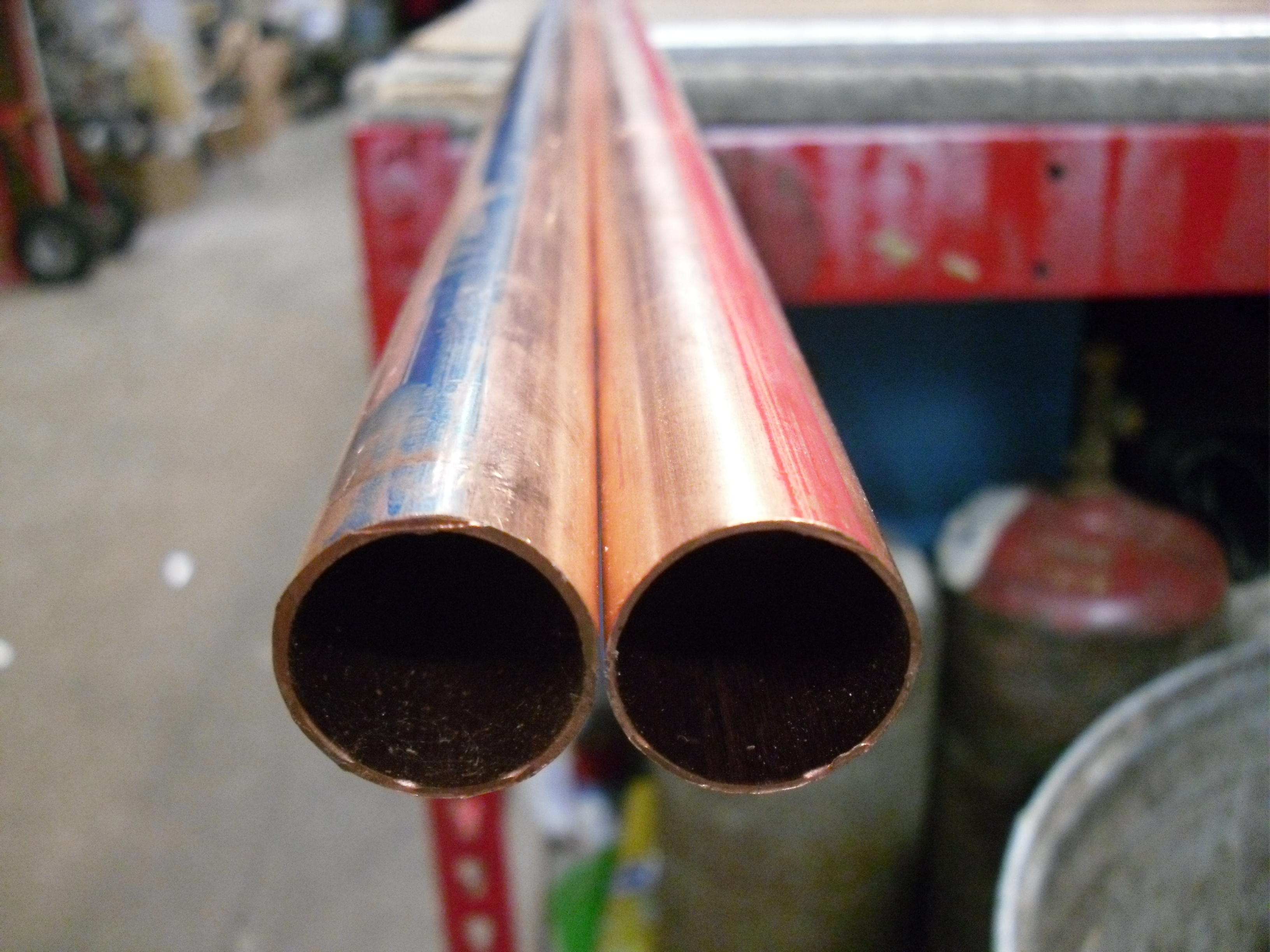 How to repair a copper pipe leak levahn brothers for Copper pipe types